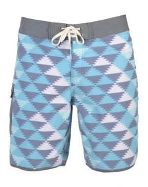 Пляжные брюки и шорты REEF. Цвет: бирюзовый
