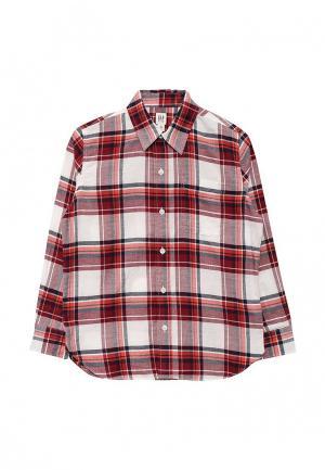 Рубашка Gap. Цвет: разноцветный