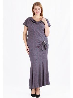 Комплект одежды Yuliya Shehodanova. Цвет: серый, фиолетовый