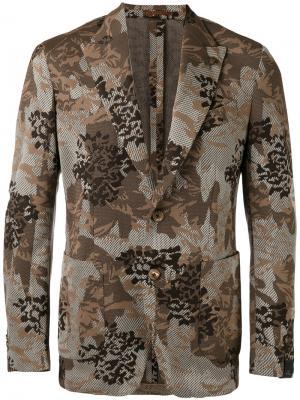 Floral jacquard blazer Gabriele Pasini. Цвет: коричневый