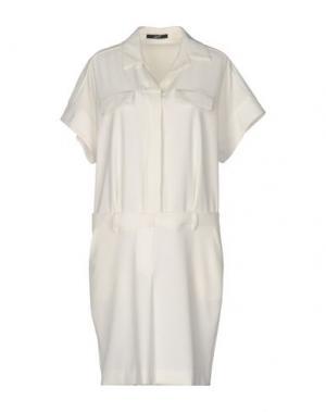 Короткое платье G.SEL. Цвет: белый