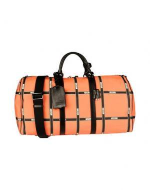 Дорожная сумка MOSCHINO. Цвет: оранжевый