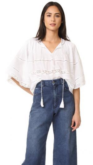 Блуза с защипами Love Sam. Цвет: лебединое перо