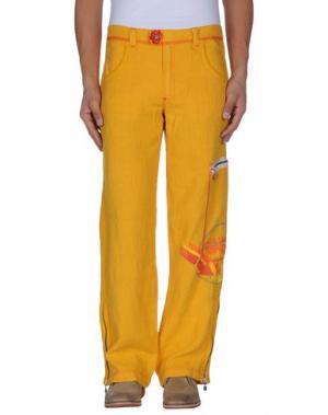 Повседневные брюки MESSAGERIE. Цвет: охра