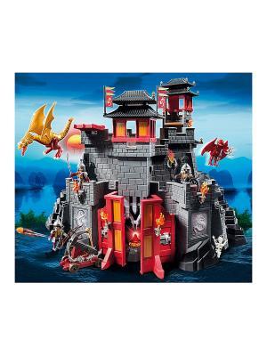Азиатский дракон: Восточный замок с золотым Драконом Playmobil. Цвет: красный, серый