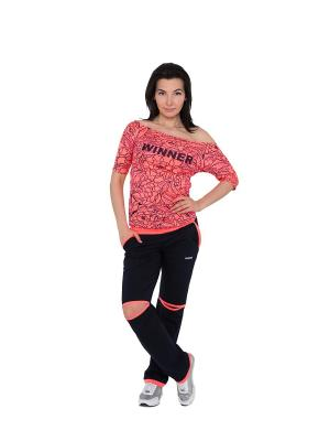 Спортивный костюм WINNER neon pink WINNER.. Цвет: черный,розовый