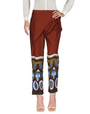 Повседневные брюки .TESSA. Цвет: кирпично-красный