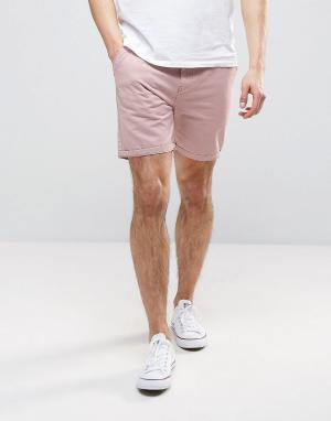 Brave Soul Базовые шорты чиносы. Цвет: розовый