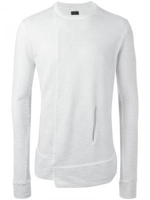 Asymmetric hem sweatshirt Thom Krom. Цвет: серый