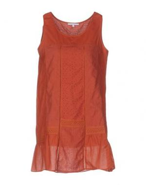 Короткое платье KORALLINE. Цвет: ржаво-коричневый