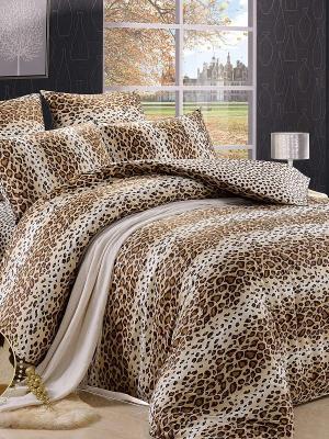 Комплект постельного белья, Леопард Ашера, 1.5 спальный KAZANOV.A.. Цвет: бежевый