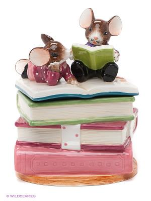 Шкатулка Грызем науку Pavone. Цвет: зеленый, фуксия, розовый, коричневый