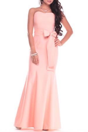 Платье Dioni. Цвет: оранжевый