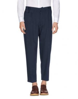 Повседневные брюки JOHN SHEEP. Цвет: темно-синий