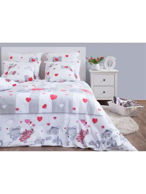 Двуспальное постельное белье Хлопковый Край. Бязь-люкс. Край. Цвет: светло-серый, малиновый, белый