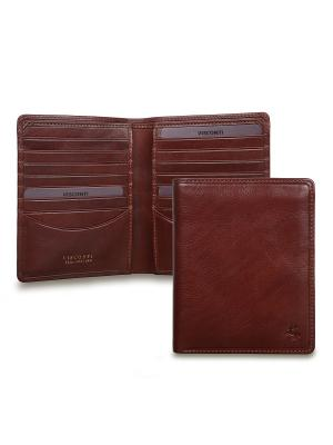 Бумажник Matteo Visconti. Цвет: рыжий