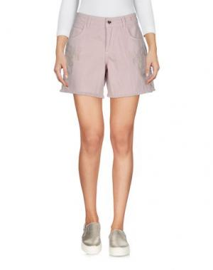 Джинсовые шорты TWIN-SET Simona Barbieri. Цвет: пастельно-розовый