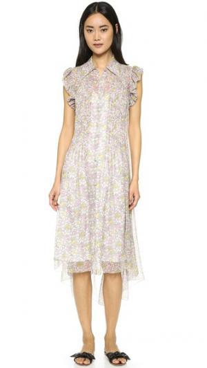 Платье с цветочным рисунком Philosophy di Lorenzo Serafini. Цвет: мульти