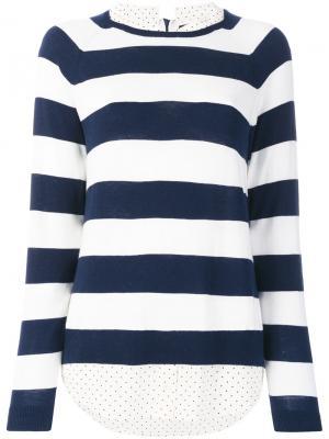Свитер-рубашка в полоску Steffen Schraut. Цвет: синий