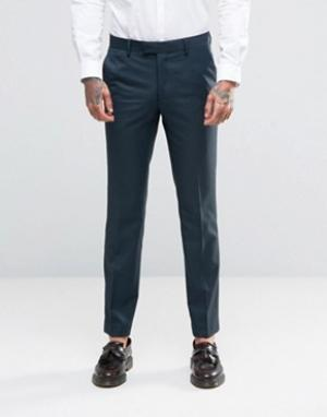 Farah Зеленые облегающие брюки. Цвет: черный