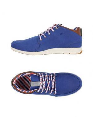 Низкие кеды и кроссовки BOXFRESH. Цвет: синий