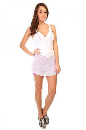 Комбинезон для фитнеса женский  Trend Suit Jump White CajuBrasil. Цвет: белый