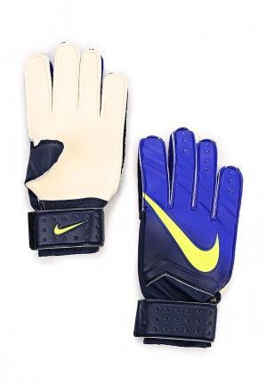 Перчатки вратарские Nike. Цвет: синий