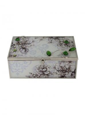 Шкатулка  Благородный изумруд JARDIN D'ETE. Цвет: зеленый, серый, белый