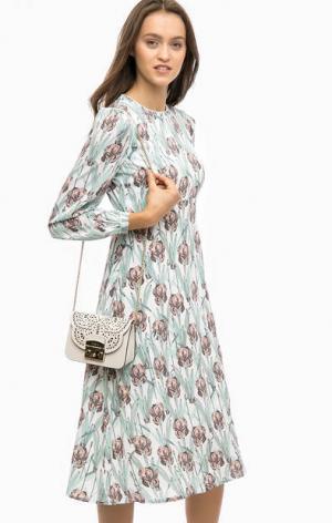 Платье с длинными рукавами и цветочным принтом Darling. Цвет: цветочный принт