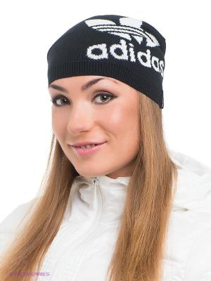 Шапка Adicolor Logo Adidas. Цвет: черный, белый