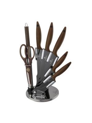 Набор ножей на подставке, 8 предметов BERLINGERHAUS. Цвет: коричневый