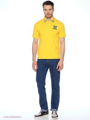 Футболка-поло Mavango. Цвет: желтый