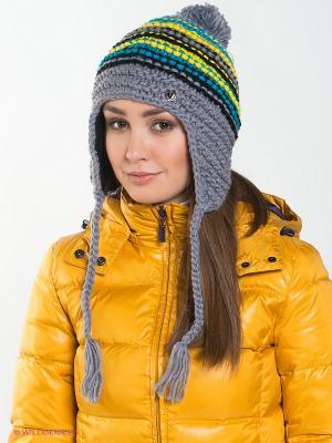 Шапка Viking caps&gloves. Цвет: серый, бирюзовый