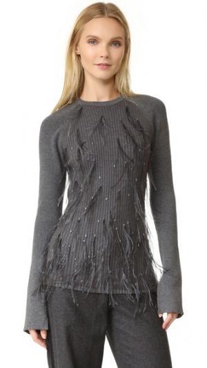 Вязаный свитер Jason Wu. Цвет: темный кремень меланж