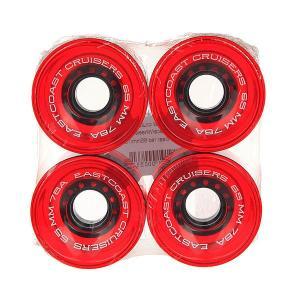 Колеса для скейтборда лонгборда  Shelby Clear Red 78A 65 mm Eastcoast. Цвет: красный