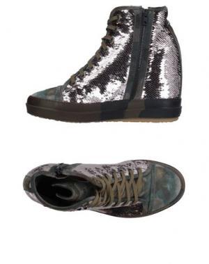 Высокие кеды и кроссовки RUCO LINE. Цвет: голубиный серый