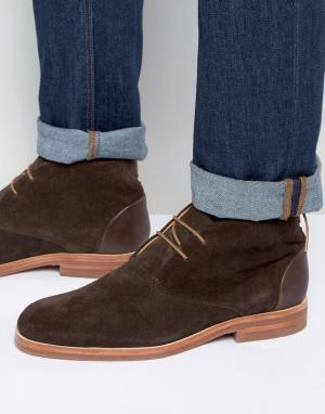 Hudson London Замшевые ботинки чукка Matteo. Цвет: коричневый