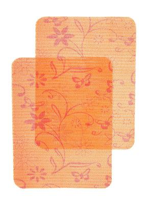 Плейсматы, 2 шт DiMi. Цвет: оранжевый