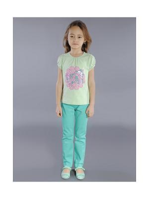 Блузка Fleur de Vie. Цвет: серо-зеленый
