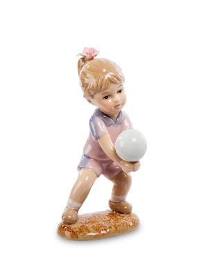 Статуэтка Девочка Игра В Волейбол Pavone. Цвет: бежевый, розовый