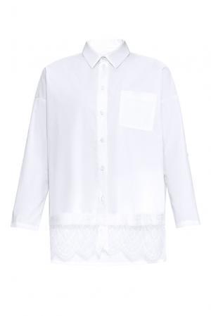 Рубашка из хлопка 169884 Private Sun. Цвет: белый
