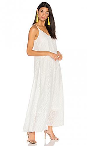 Макси платье cardenna CHARLI. Цвет: белый