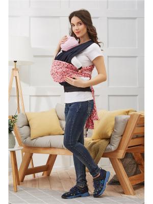 Переноска-слинг с поясом и длинными лямками для детей весом до 16 кг возрастом 1,5 года Nothing but Love. Цвет: темно-синий, белый, красный
