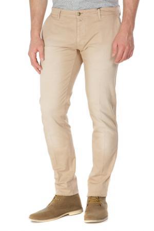 Брюки классического кроя Trussardi Jeans. Цвет: 64 бежевый
