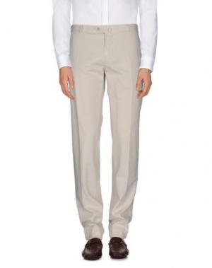 Повседневные брюки LUIGI BIANCHI Mantova. Цвет: светло-серый