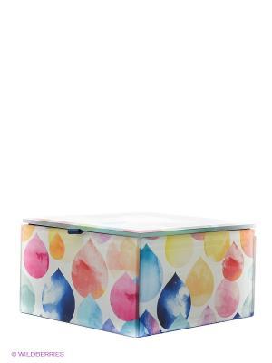 Стеклянная шкатулка для бижутерии Михоко Kimmidoll. Цвет: синий