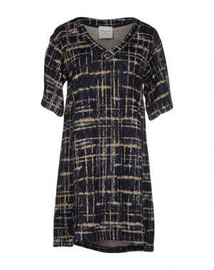 Короткое платье MARIUCCIA. Цвет: темно-синий