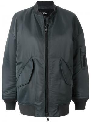 Куртка бомбер на молнии The Reracs. Цвет: зелёный