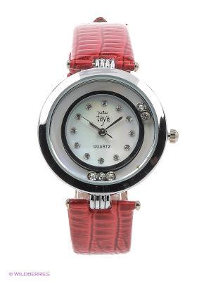 Часы Taya. Цвет: серебристый, красный