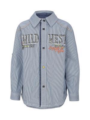 Рубашка S.OLIVER. Цвет: синий, белый
